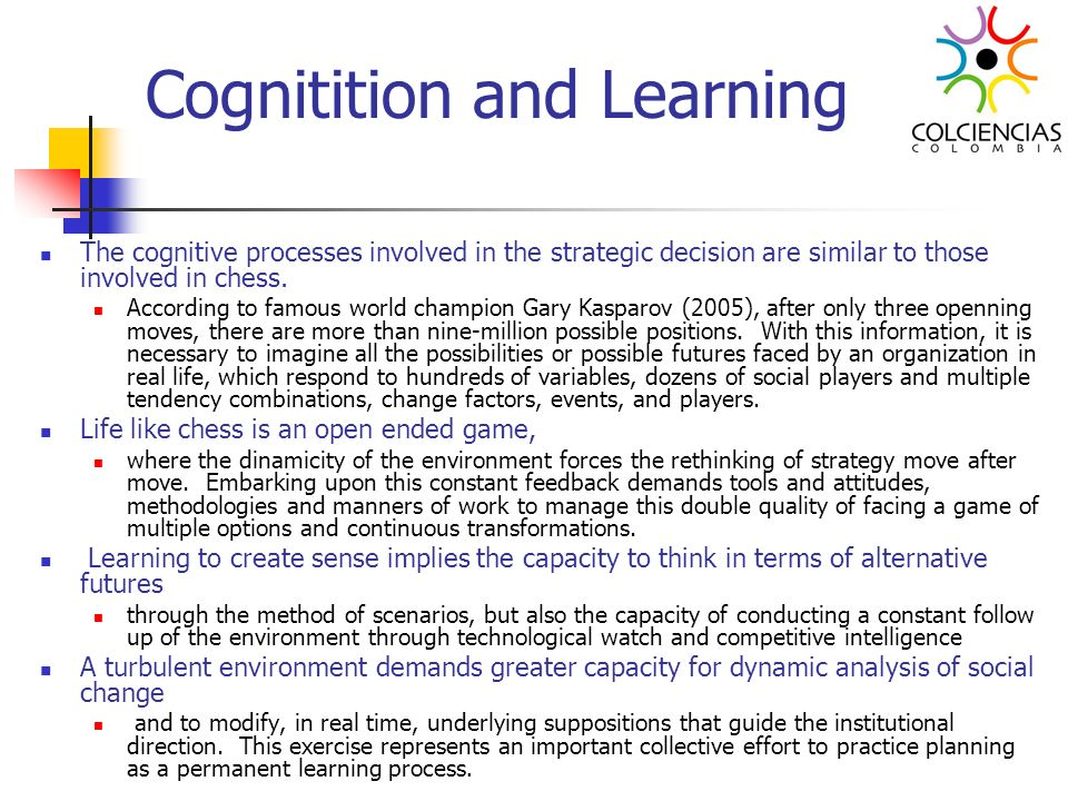 Cognitition and Learning