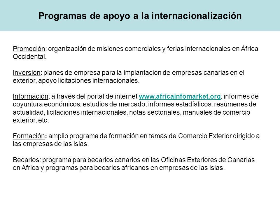 Programas de apoyo a la internacionalización