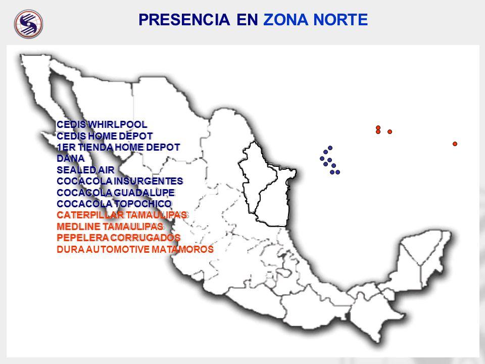 PRESENCIA EN ZONA NORTE