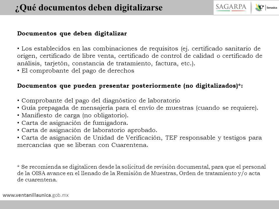 ¿Qué documentos deben digitalizarse