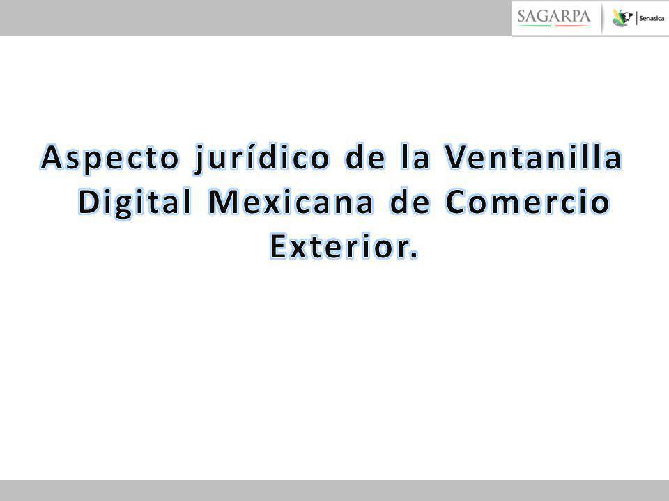 Aspecto jurídico de la Ventanilla Digital Mexicana de Comercio Exterior.