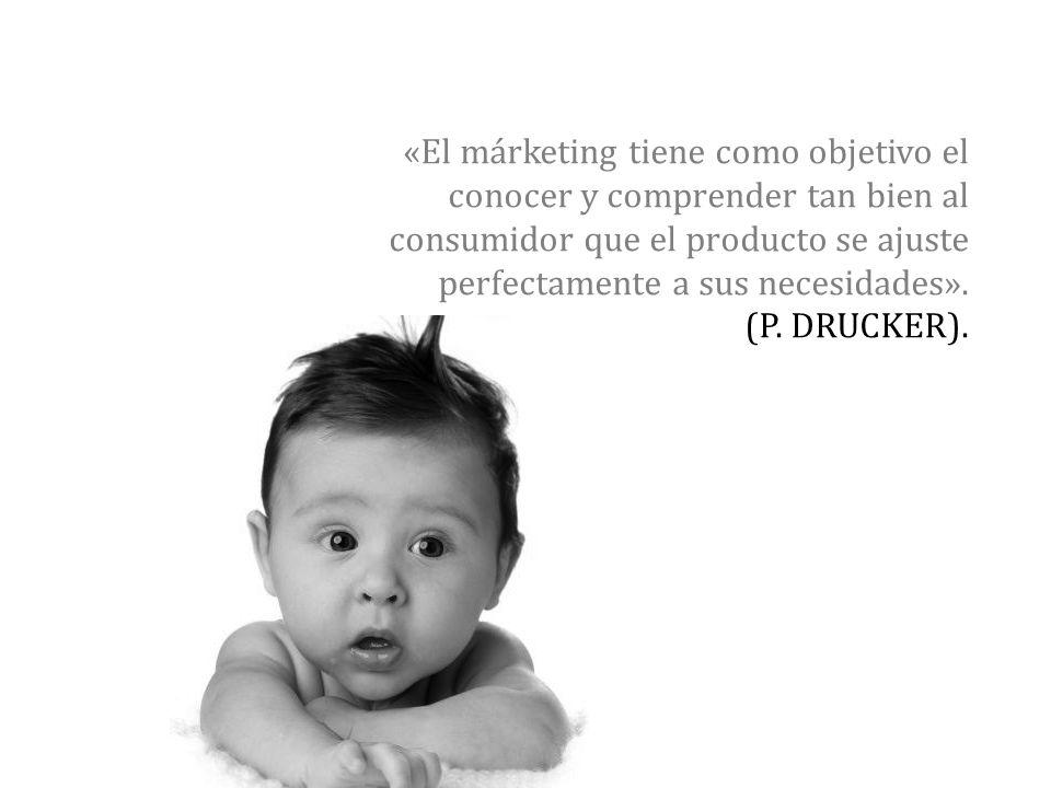 «El márketing tiene como objetivo el conocer y comprender tan bien al consumidor que el producto se ajuste perfectamente a sus necesidades».