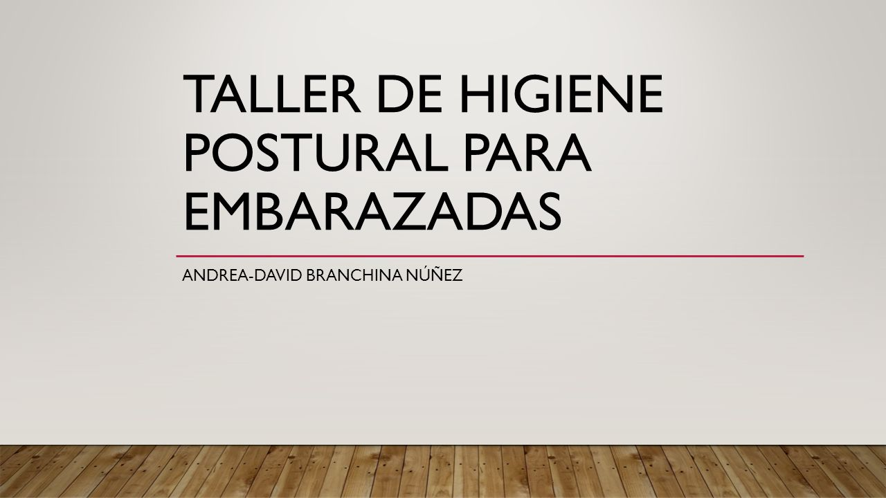 Taller de higiene postural para embarazadas