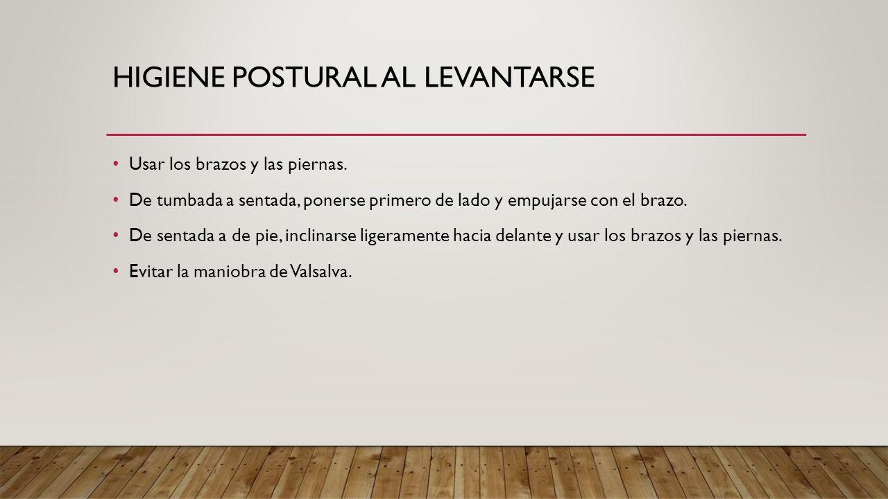 Higiene postural al levantarse