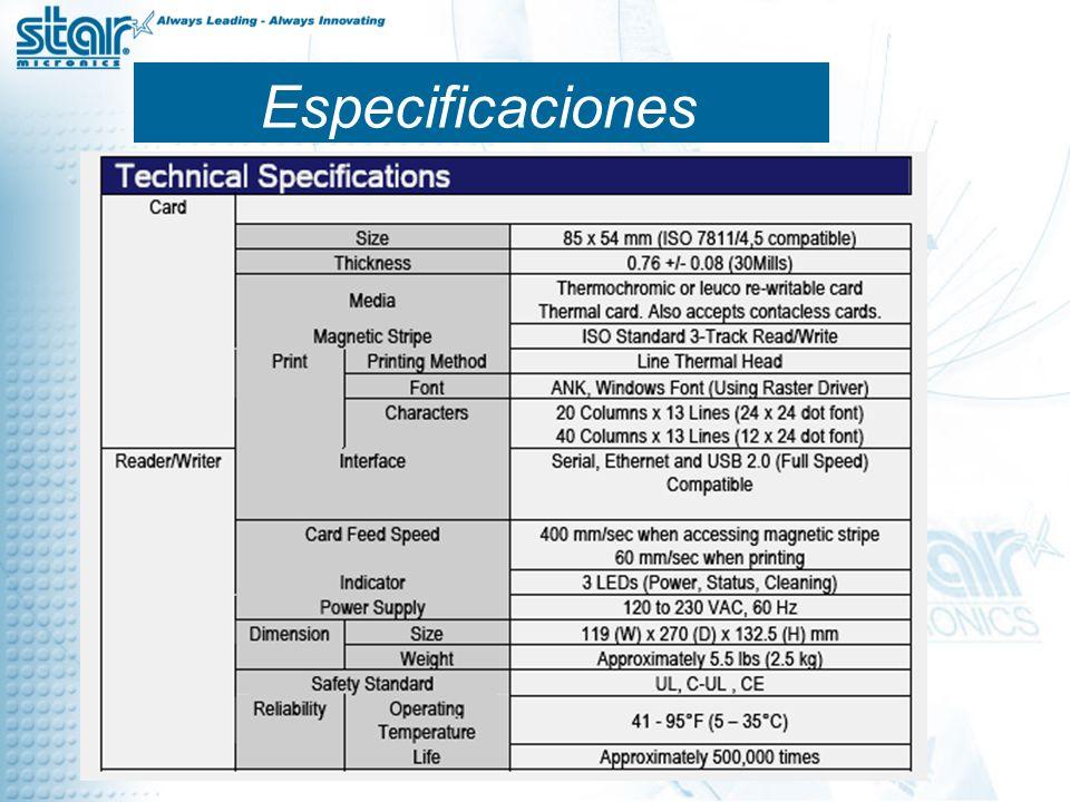 Especificaciones 7