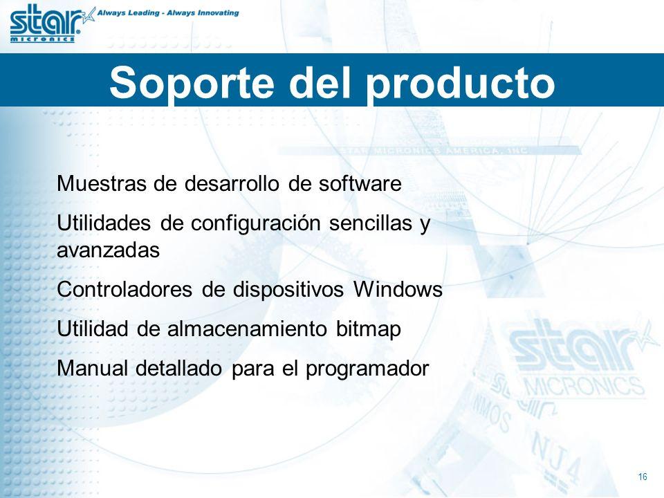 Soporte del producto Muestras de desarrollo de software