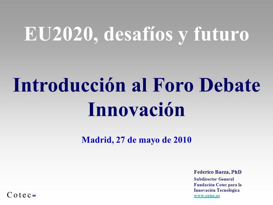 Introducción al Foro Debate Innovación