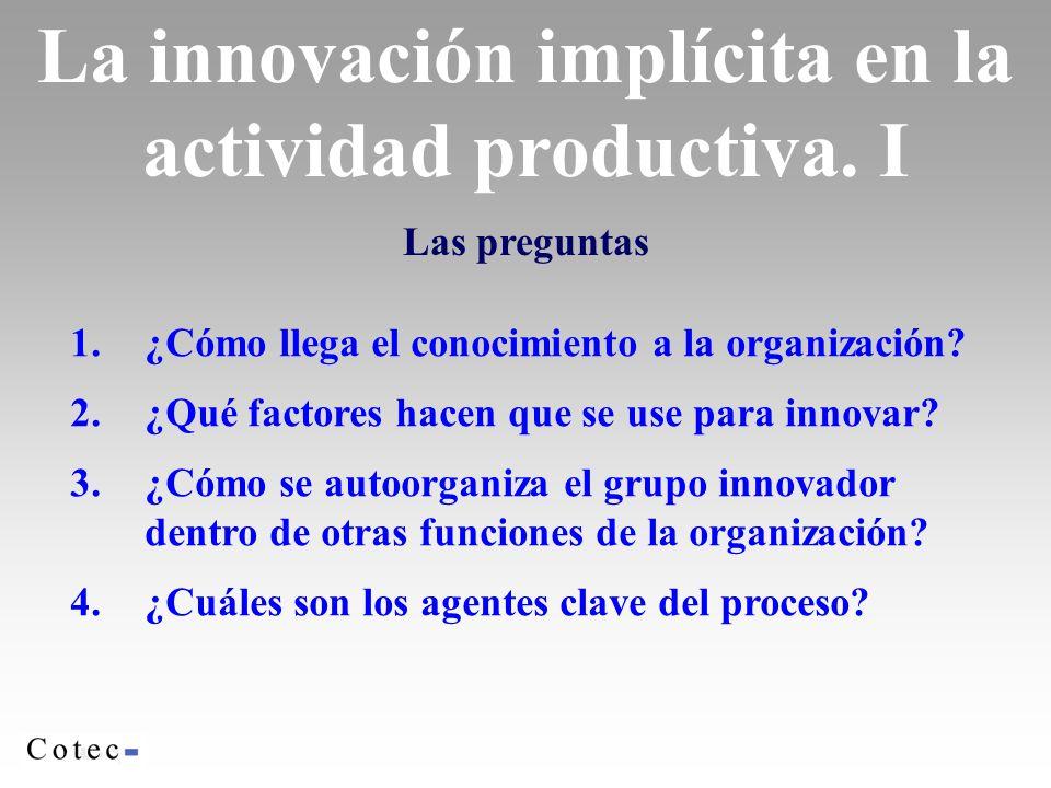 La innovación implícita en la actividad productiva. I
