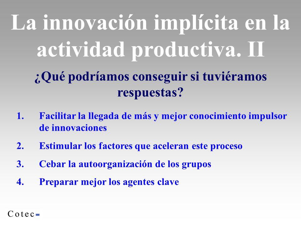 La innovación implícita en la actividad productiva. II
