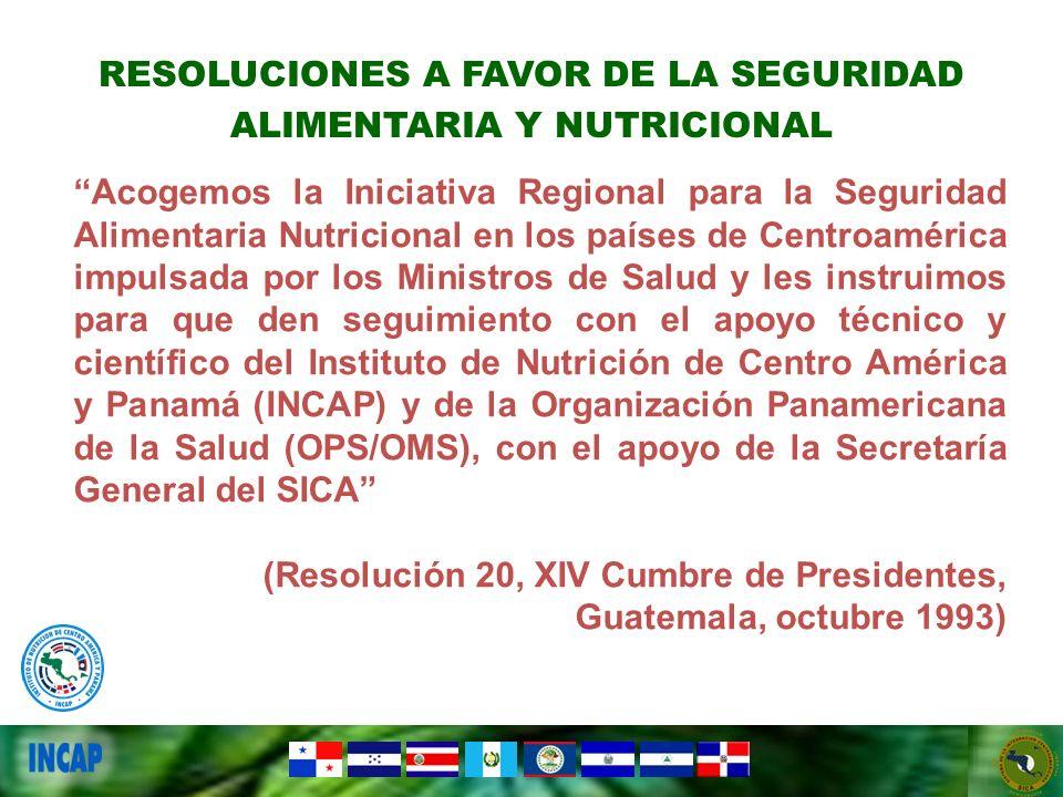 RESOLUCIONES A FAVOR DE LA SEGURIDAD ALIMENTARIA Y NUTRICIONAL