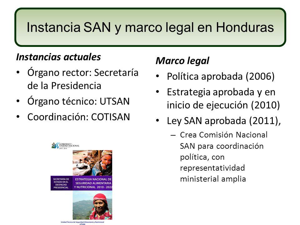 Instancia SAN y marco legal en Honduras