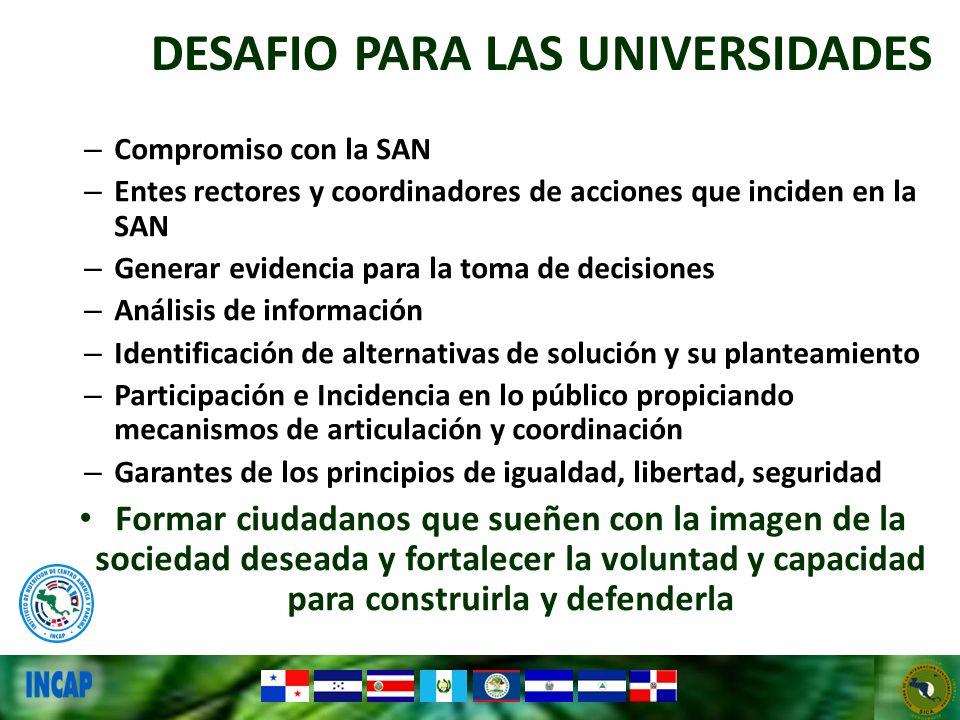 DESAFIO PARA LAS UNIVERSIDADES