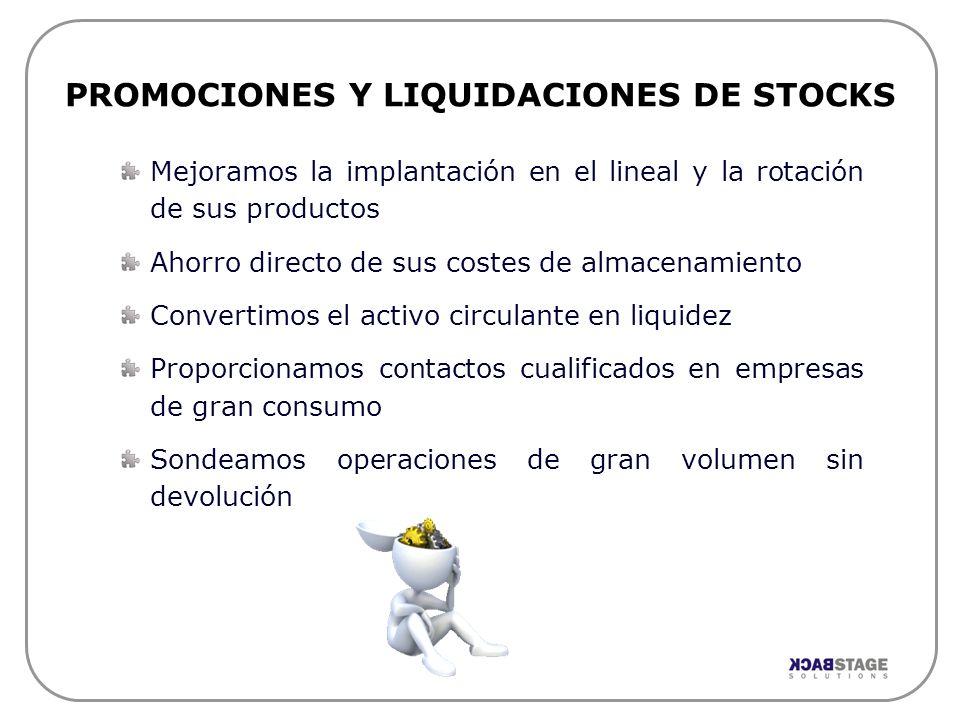 PROMOCIONES Y LIQUIDACIONES DE STOCKS