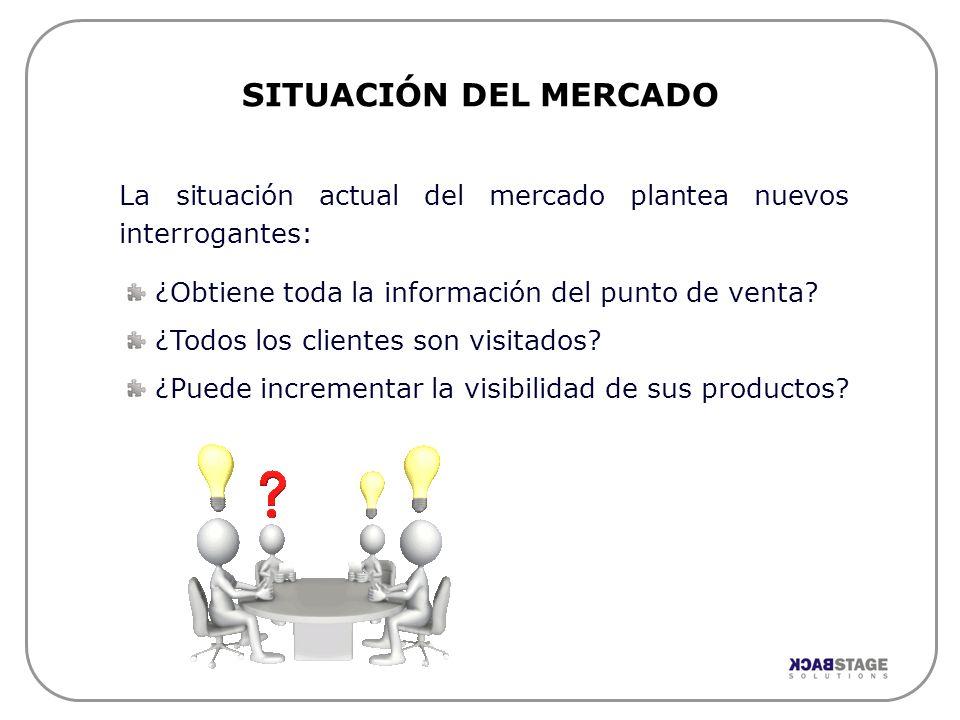 SITUACIÓN DEL MERCADO La situación actual del mercado plantea nuevos interrogantes: ¿Obtiene toda la información del punto de venta