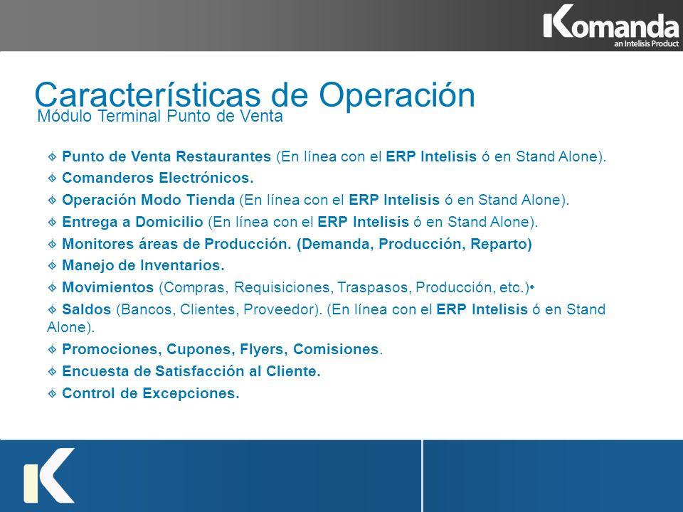 Características de Operación