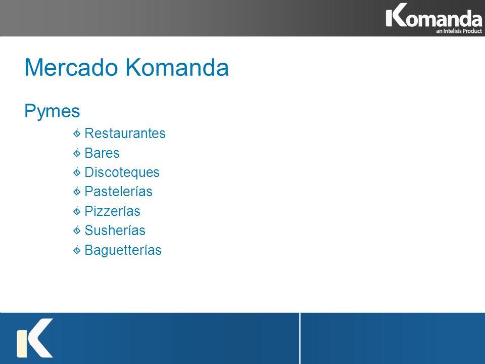 Mercado Komanda Pymes Restaurantes Bares Discoteques Pastelerías