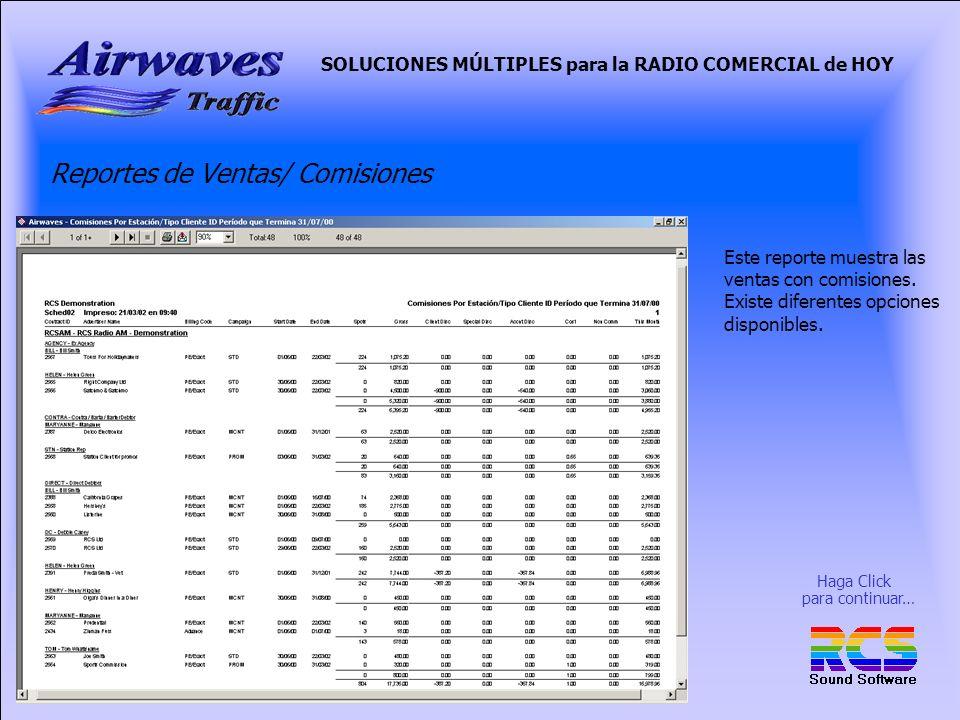 Reportes de Ventas/ Comisiones