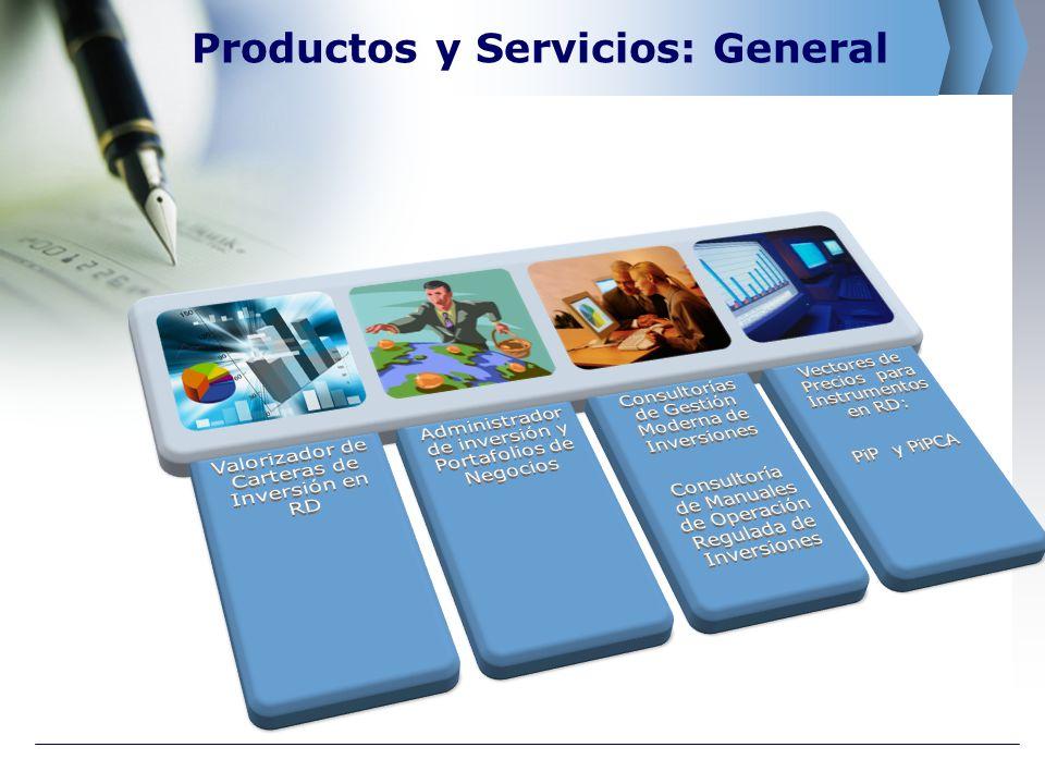 Productos y Servicios: General