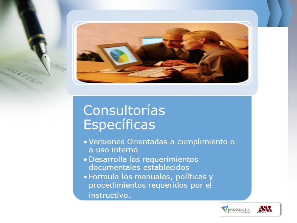 Consultorías Específicas
