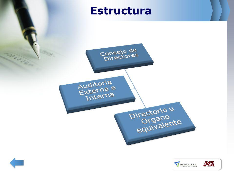 Estructura Directorio u Organo equivalente Auditoria Externa e Interna