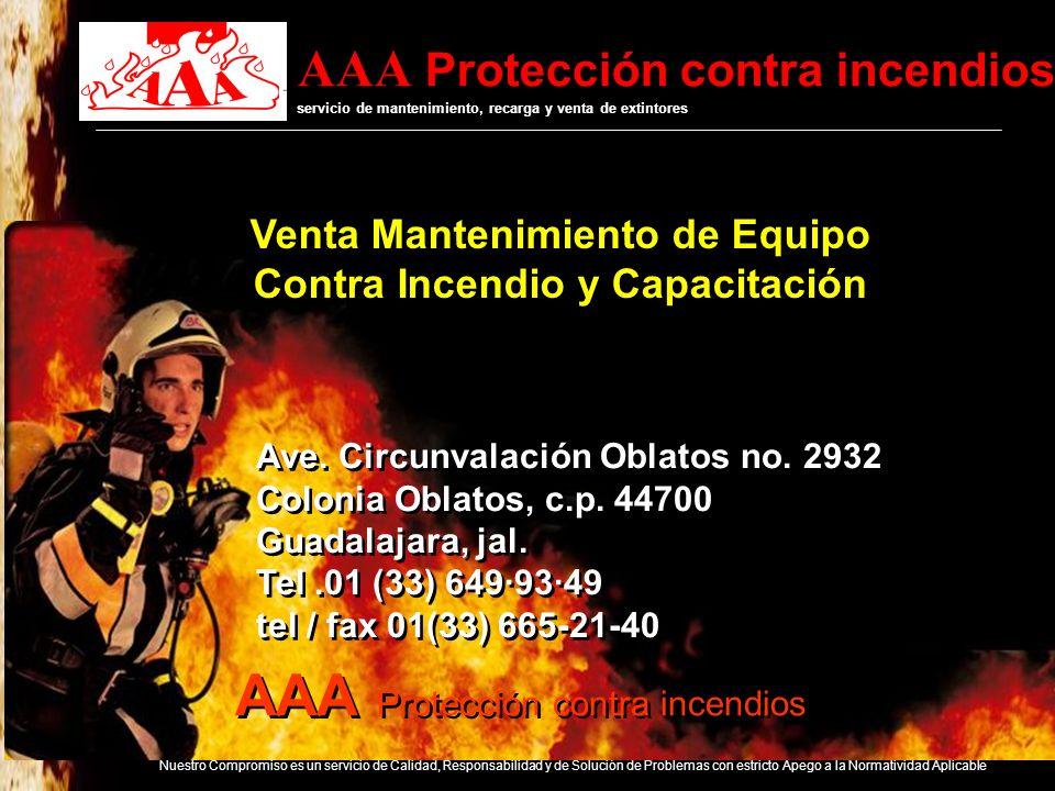 Venta Mantenimiento de Equipo Contra Incendio y Capacitación