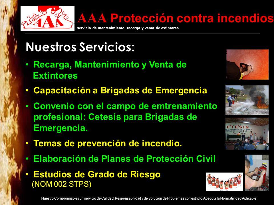 Nuestros Servicios: Recarga, Mantenimiento y Venta de Extintores