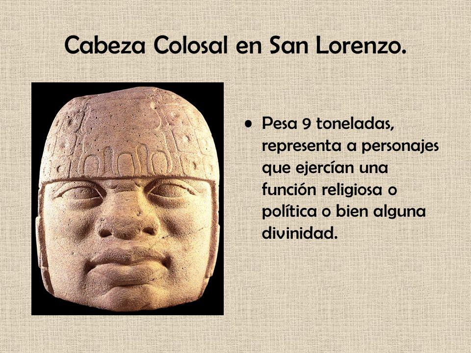 Cabeza Colosal en San Lorenzo.