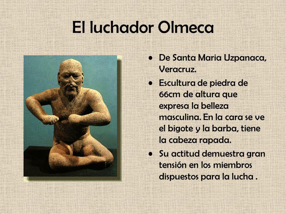 El luchador Olmeca De Santa Maria Uzpanaca, Veracruz.