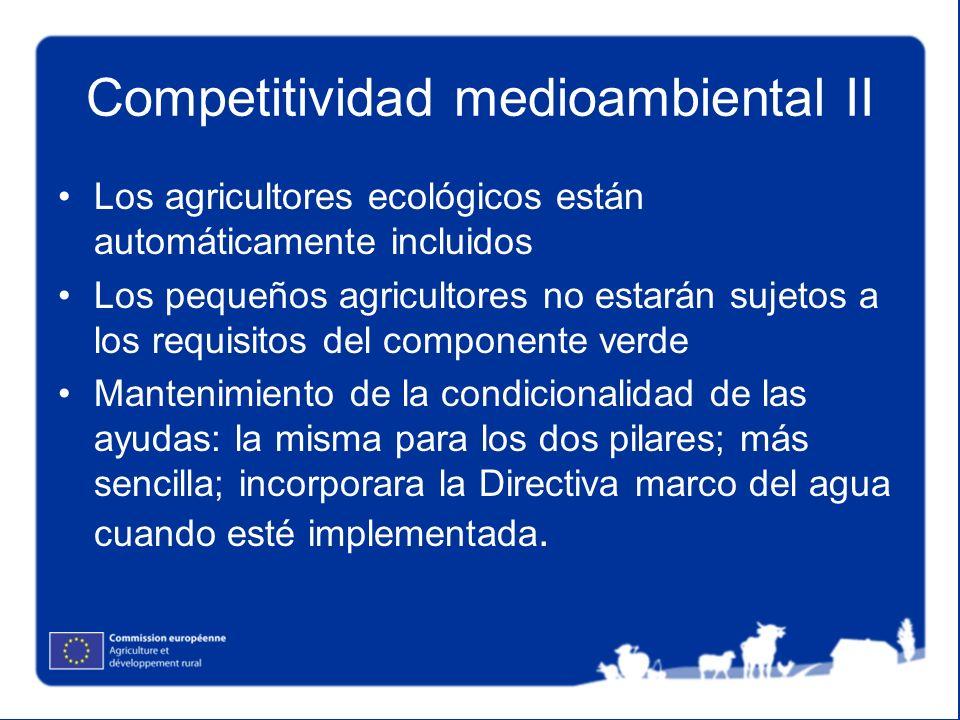 Competitividad medioambiental II
