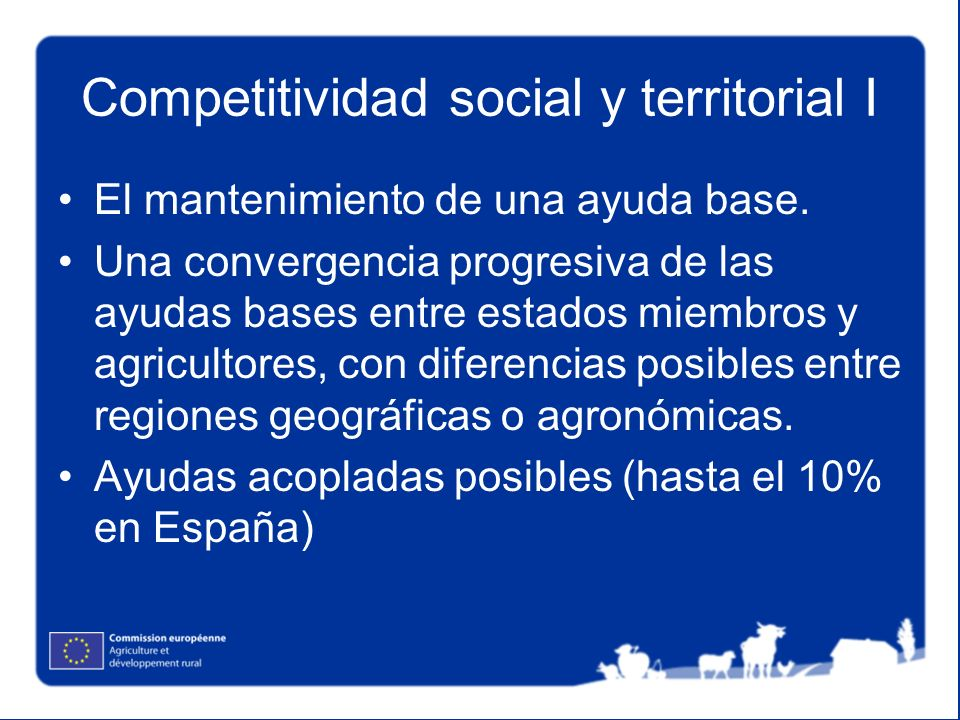 Competitividad social y territorial I