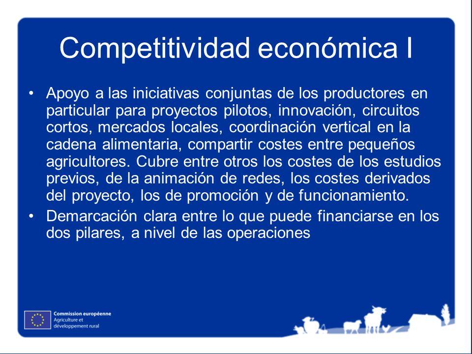 Competitividad económica I