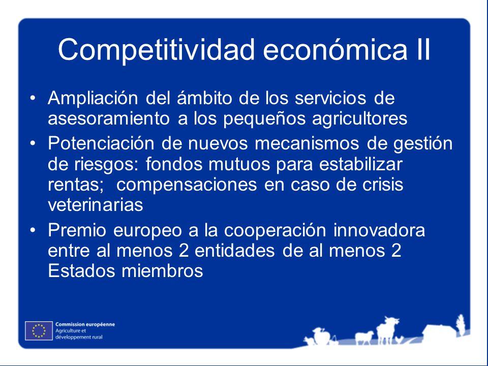 Competitividad económica II