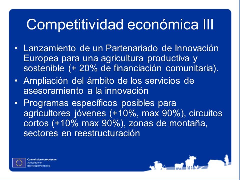 Competitividad económica III