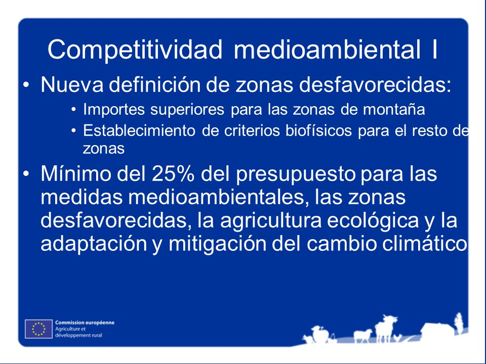Competitividad medioambiental I