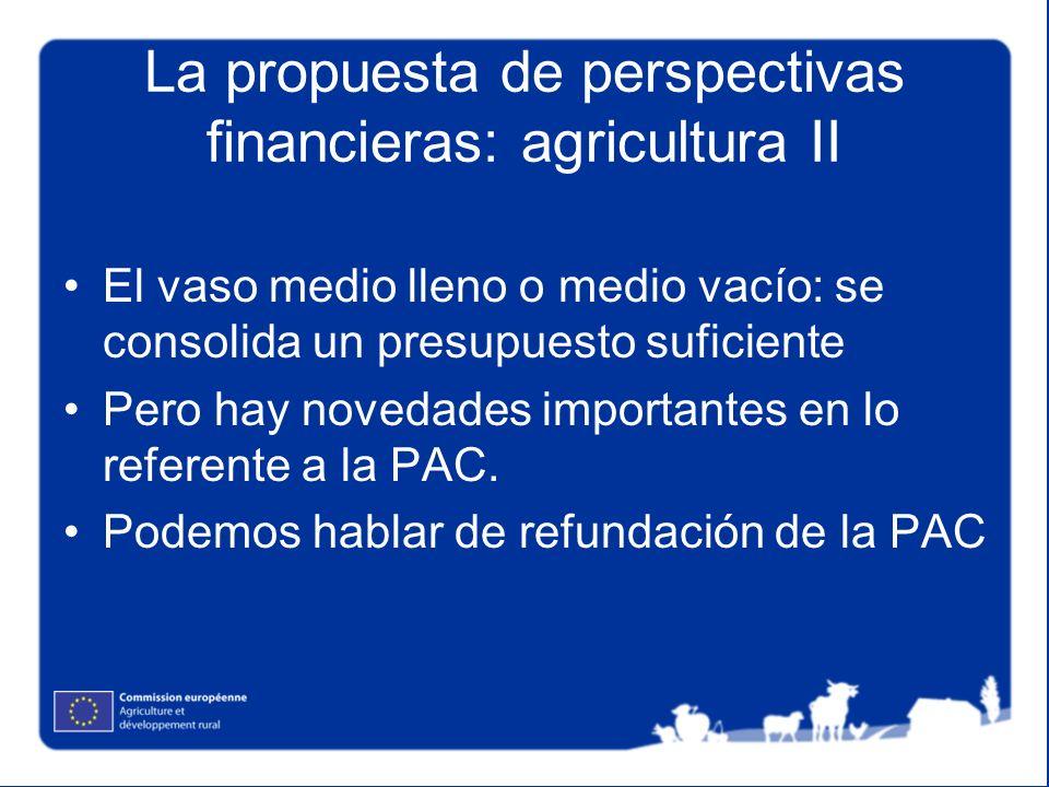 La propuesta de perspectivas financieras: agricultura II