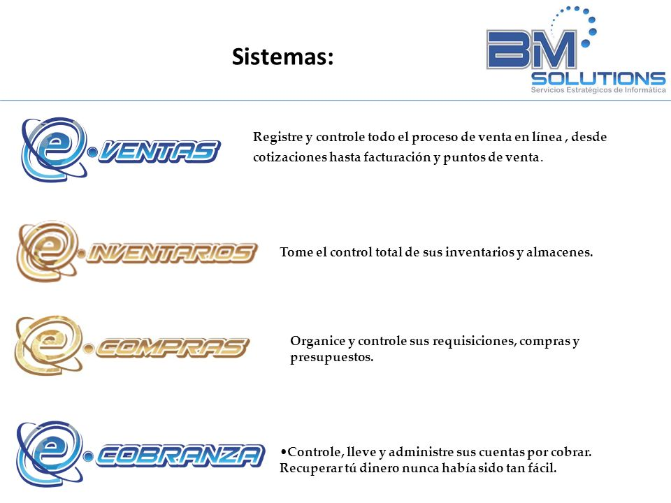 Servicios y Sistemas Sistemas: