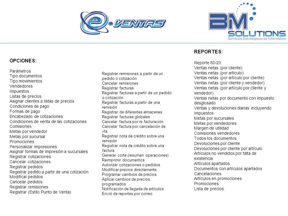 REPORTES: OPCIONES: Reporte 80/20 Ventas netas (por cliente)