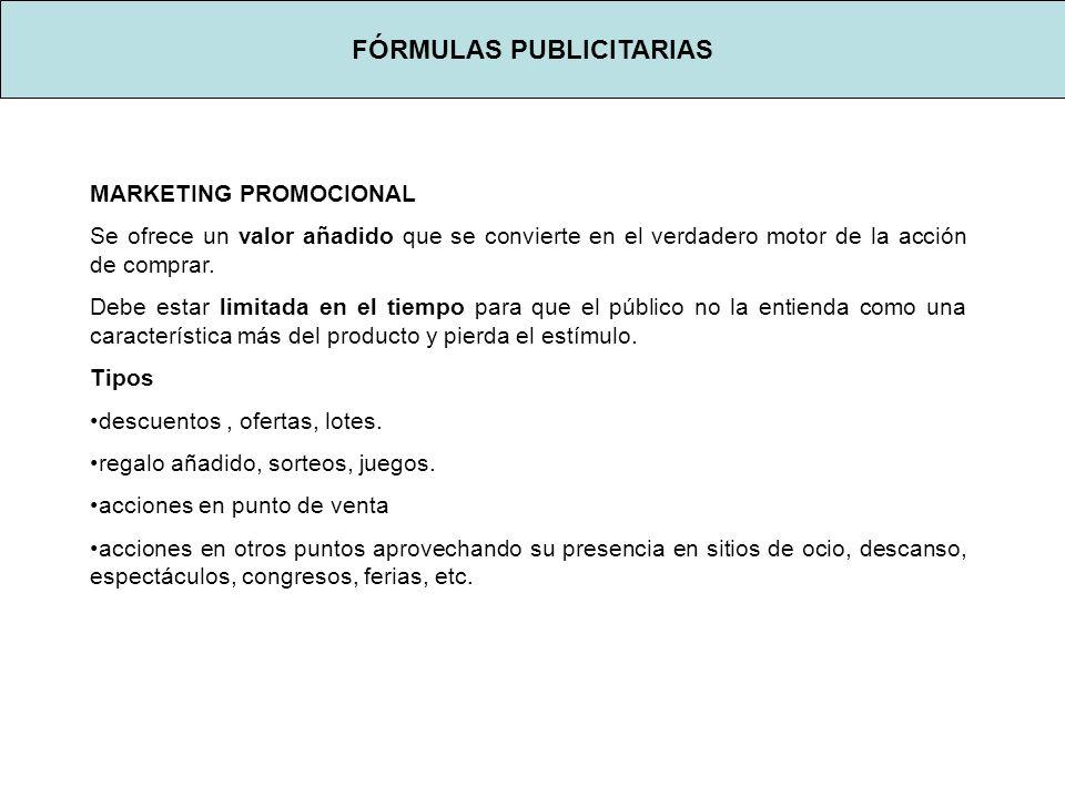 FÓRMULAS PUBLICITARIAS