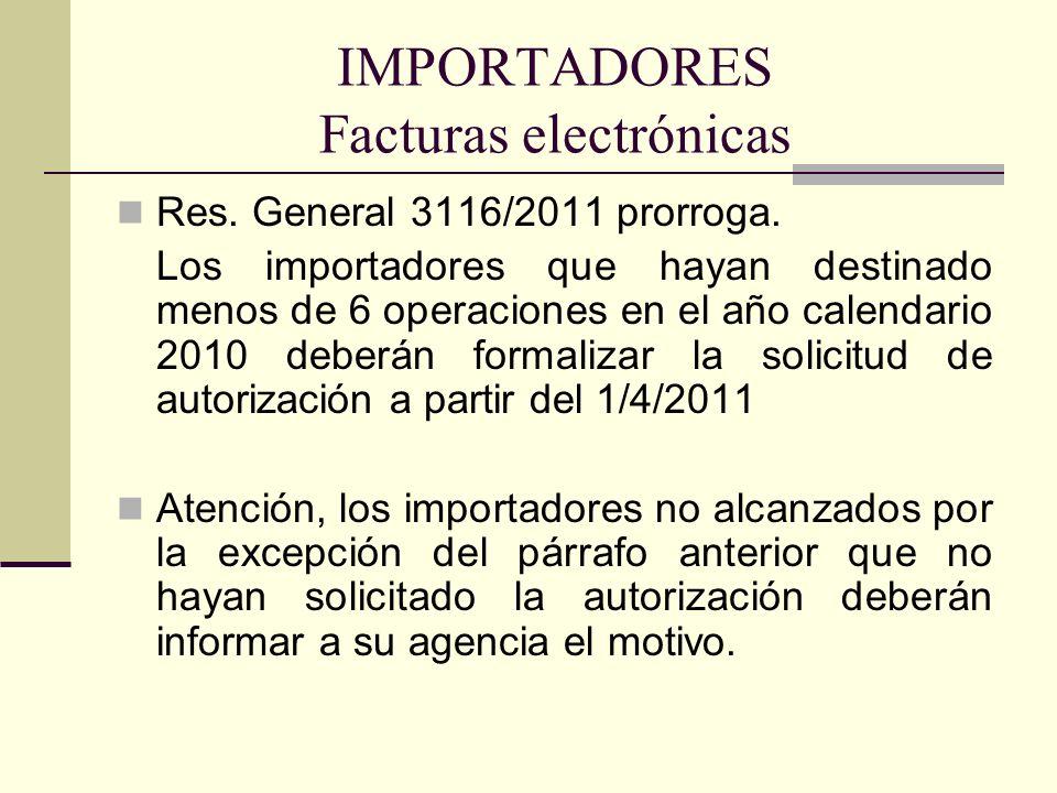 IMPORTADORES Facturas electrónicas