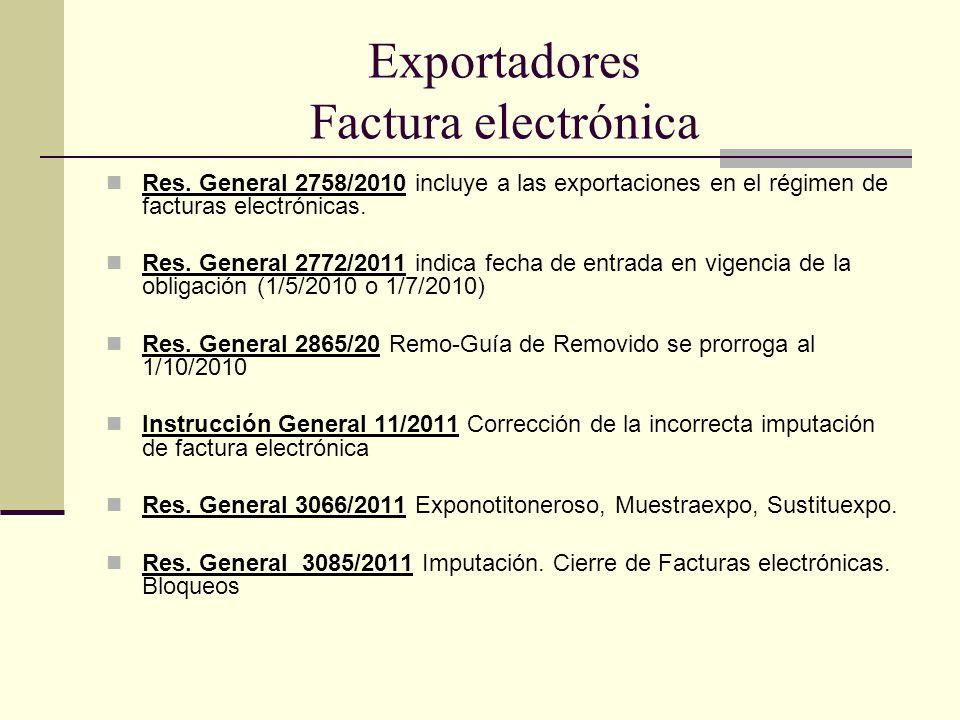 Exportadores Factura electrónica