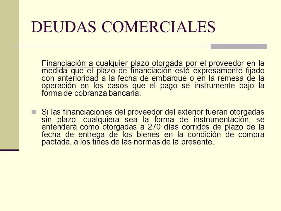 DEUDAS COMERCIALES