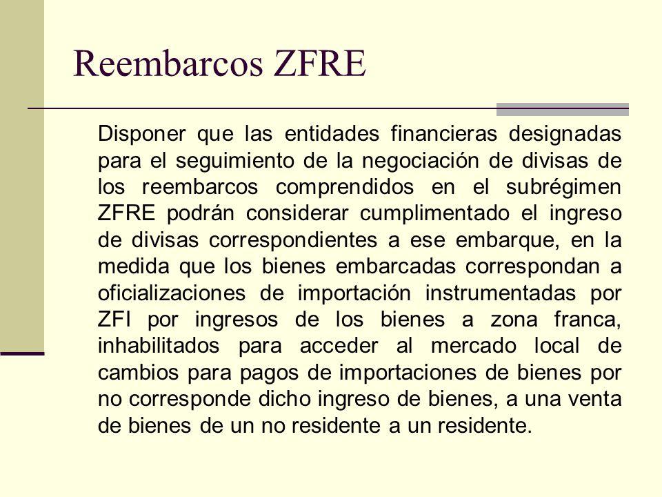 Reembarcos ZFRE