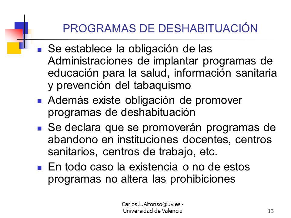 PROGRAMAS DE DESHABITUACIÓN
