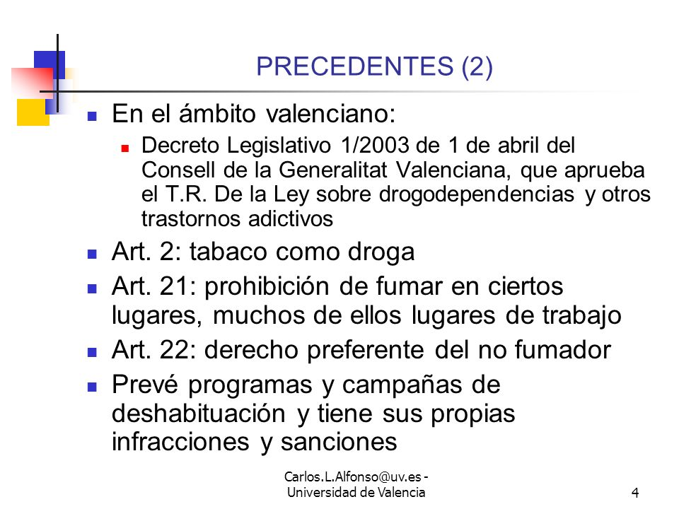 Carlos.L.Alfonso@uv.es - Universidad de Valencia