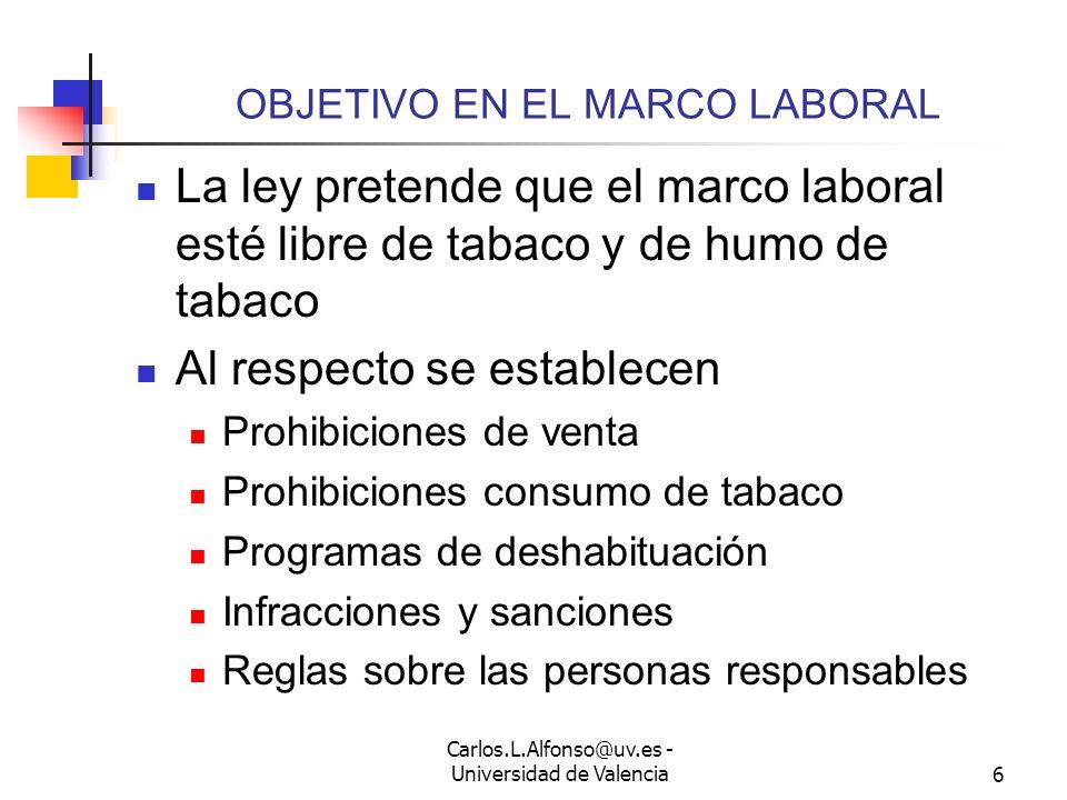OBJETIVO EN EL MARCO LABORAL