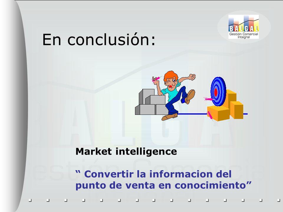 En conclusión: Market intelligence