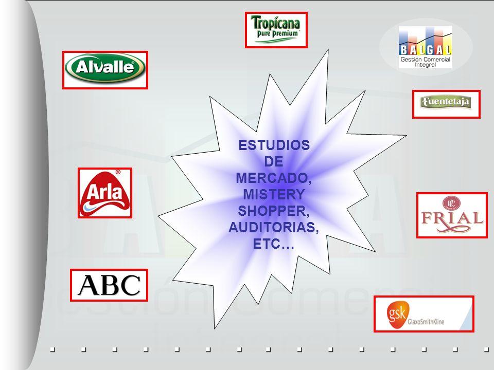 ESTUDIOS DE MERCADO, MISTERY SHOPPER, AUDITORIAS, ETC…