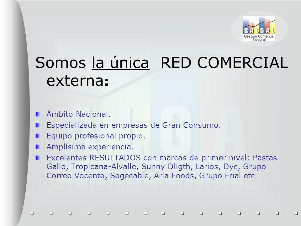 Somos la única RED COMERCIAL externa: