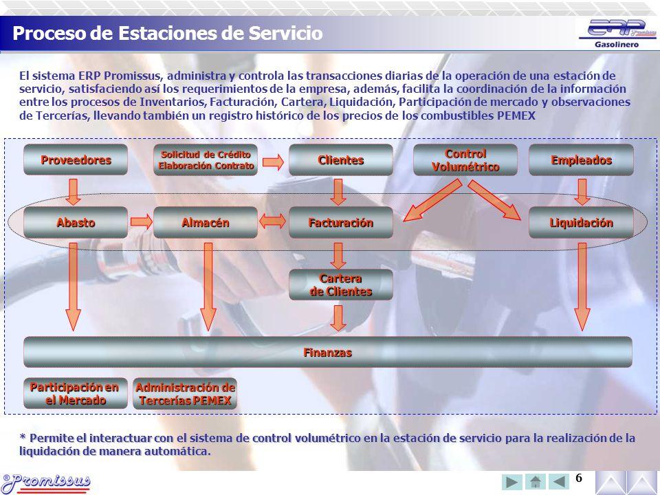 Proceso de Estaciones de Servicio