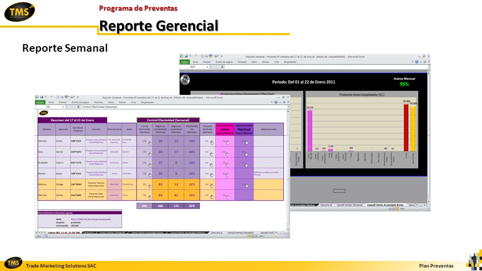 Programa de Preventas Reporte Gerencial Reporte Semanal